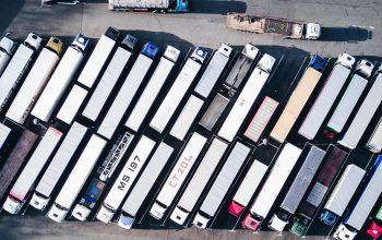 parking camions vu d en haut